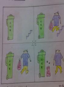 分类垃圾桶图片儿童画分享展示图片