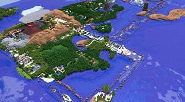 技术宅在《minecraft》中打造口袋妖怪全地图图片