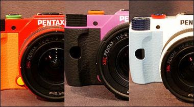 宾得《EVA》主题限量版Q10相机实物展示中