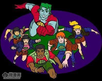 """《大风车》的前身)中播出过,动画中的召唤咒语""""地球超人!图片"""