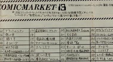 日本网友翻出30年前纯手写Comike目录手册