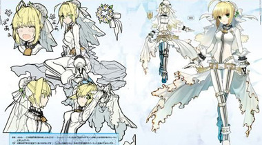 花嫁Saber卖萌 《Fate/EXTRA》推出设定集