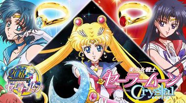 以《美少女战士Crystal》角色头饰制作的戒指登场