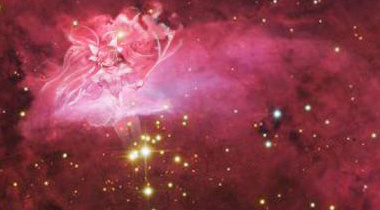 """日本网友在8000光年外宇宙发现""""圆神""""身影"""